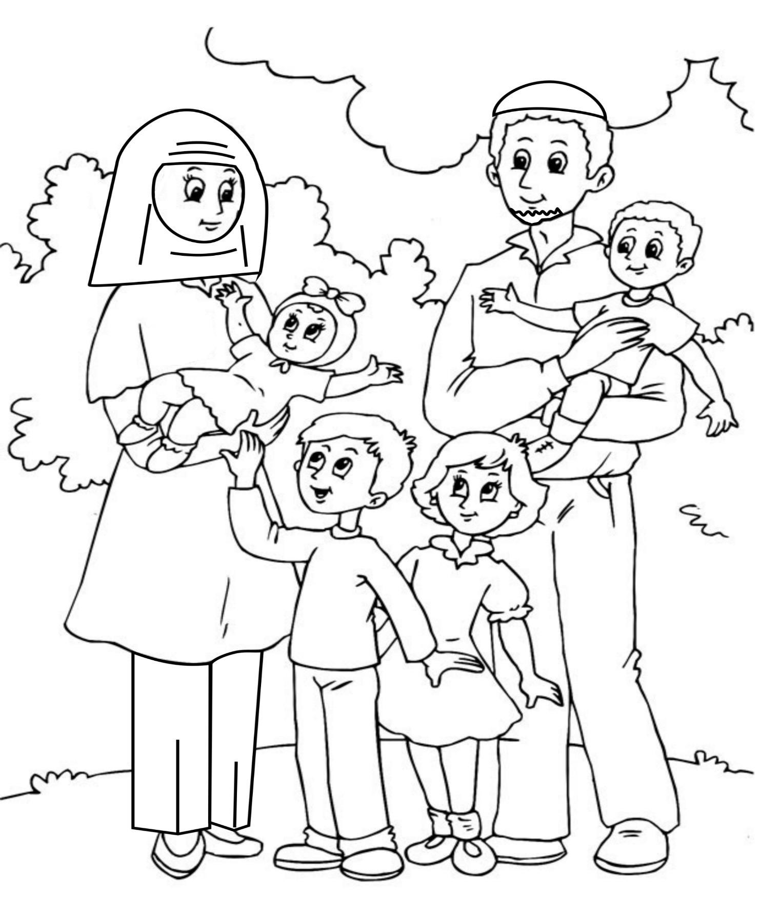 coloring picture of family best black family clipart 23695 clipartioncom family of coloring picture