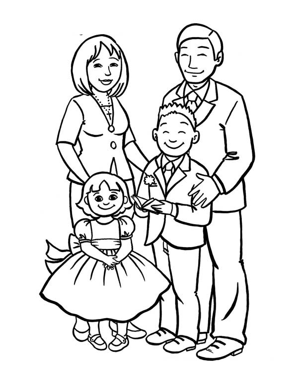 coloring picture of family coloring pages of family coloring home picture coloring family of