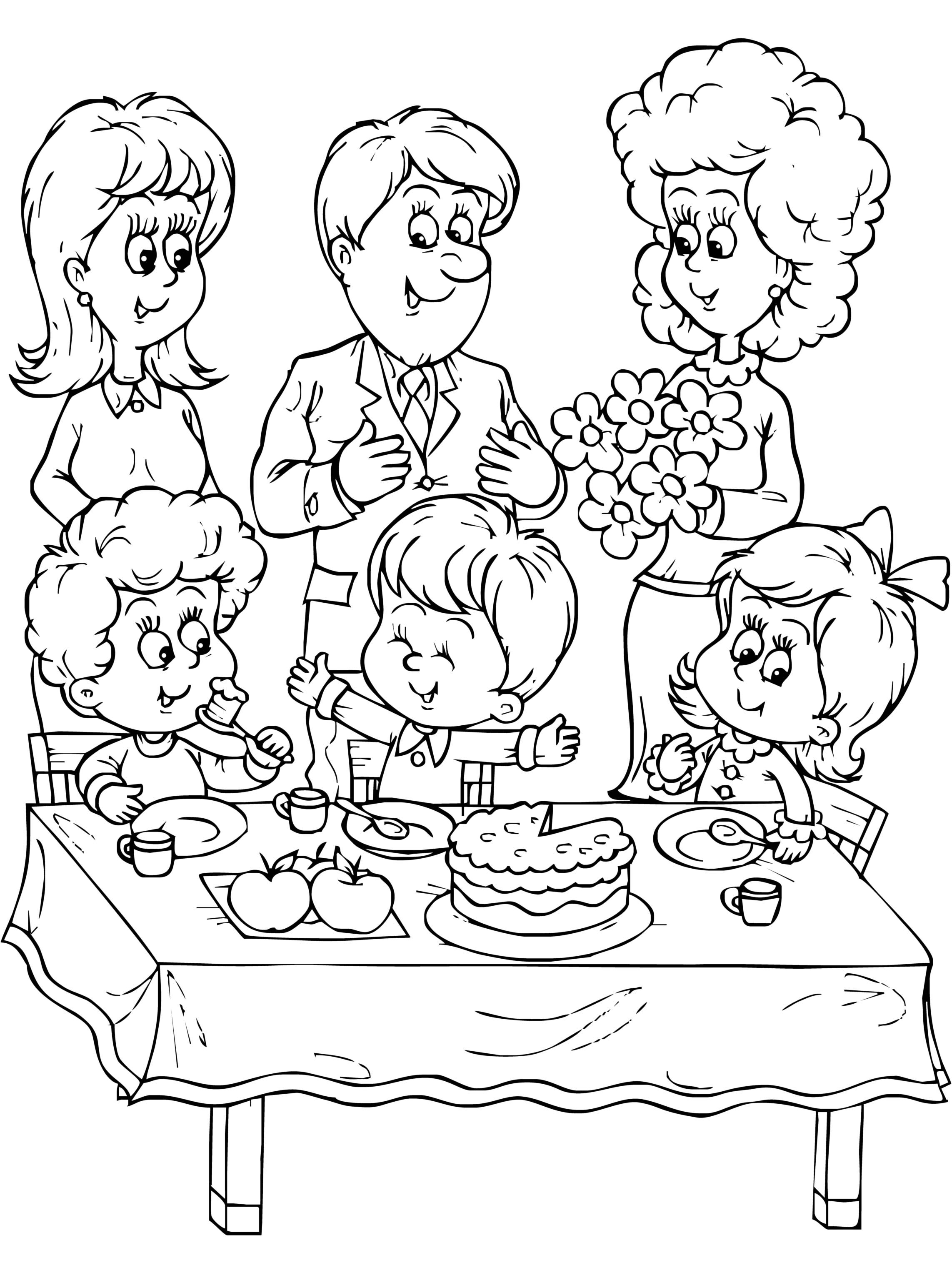 coloring picture of family family coloring pages coloring pages to download and print picture coloring of family