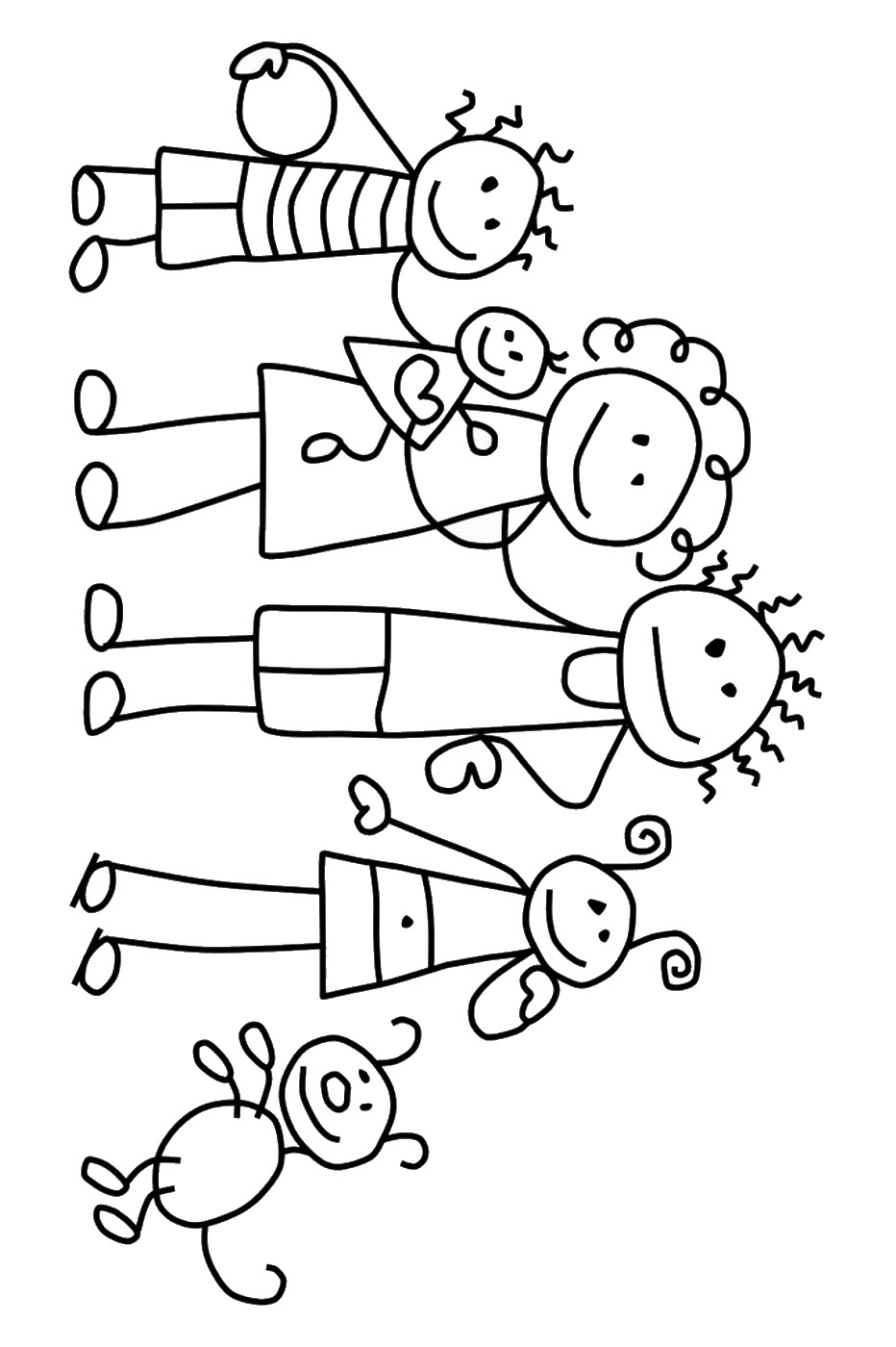 coloring picture of family family coloring pages of coloring family picture
