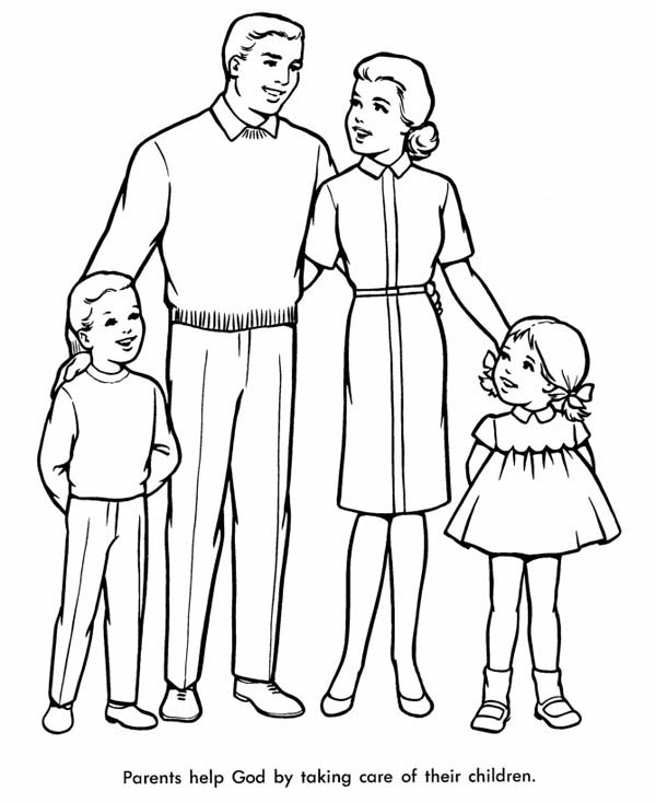 coloring picture of family family coloring pages of coloring picture family