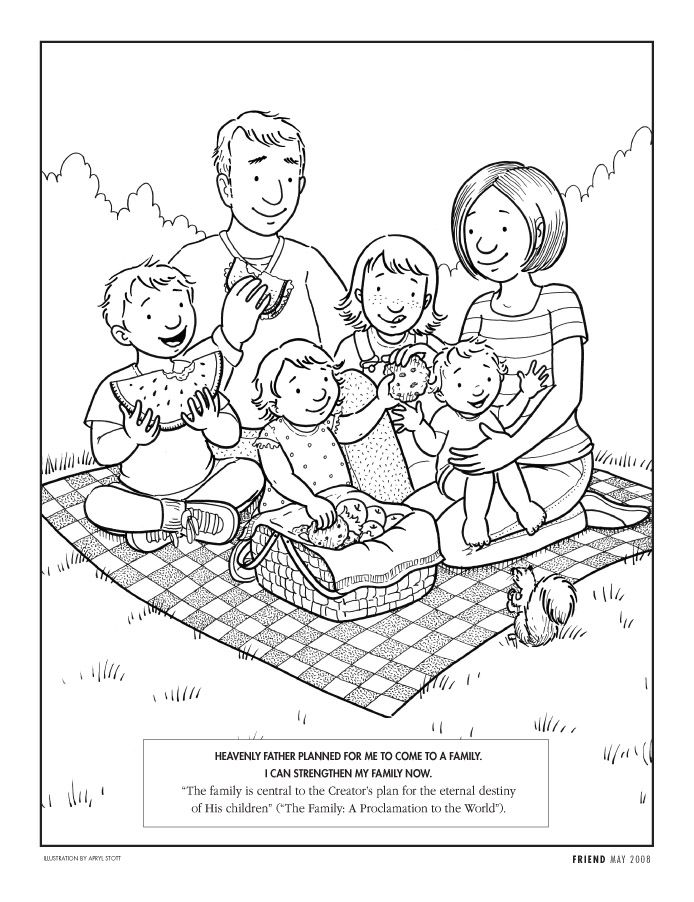 coloring picture of family family colour of picture family coloring