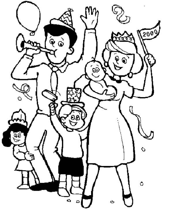 coloring picture of family family held a party coloring page coloring sky picture family coloring of