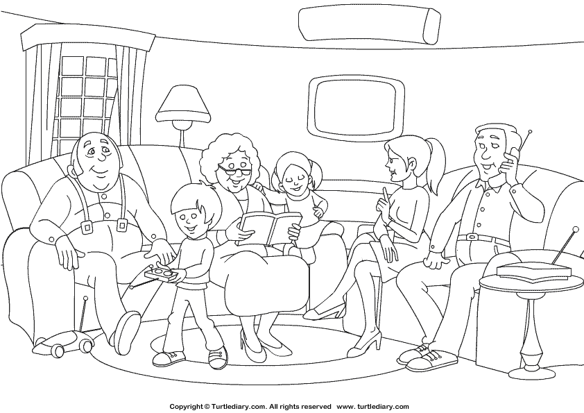 coloring picture of family family members drawing at getdrawings free download coloring of family picture