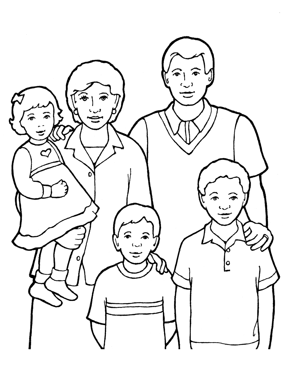 coloring picture of family family members drawing at getdrawings free download picture coloring of family