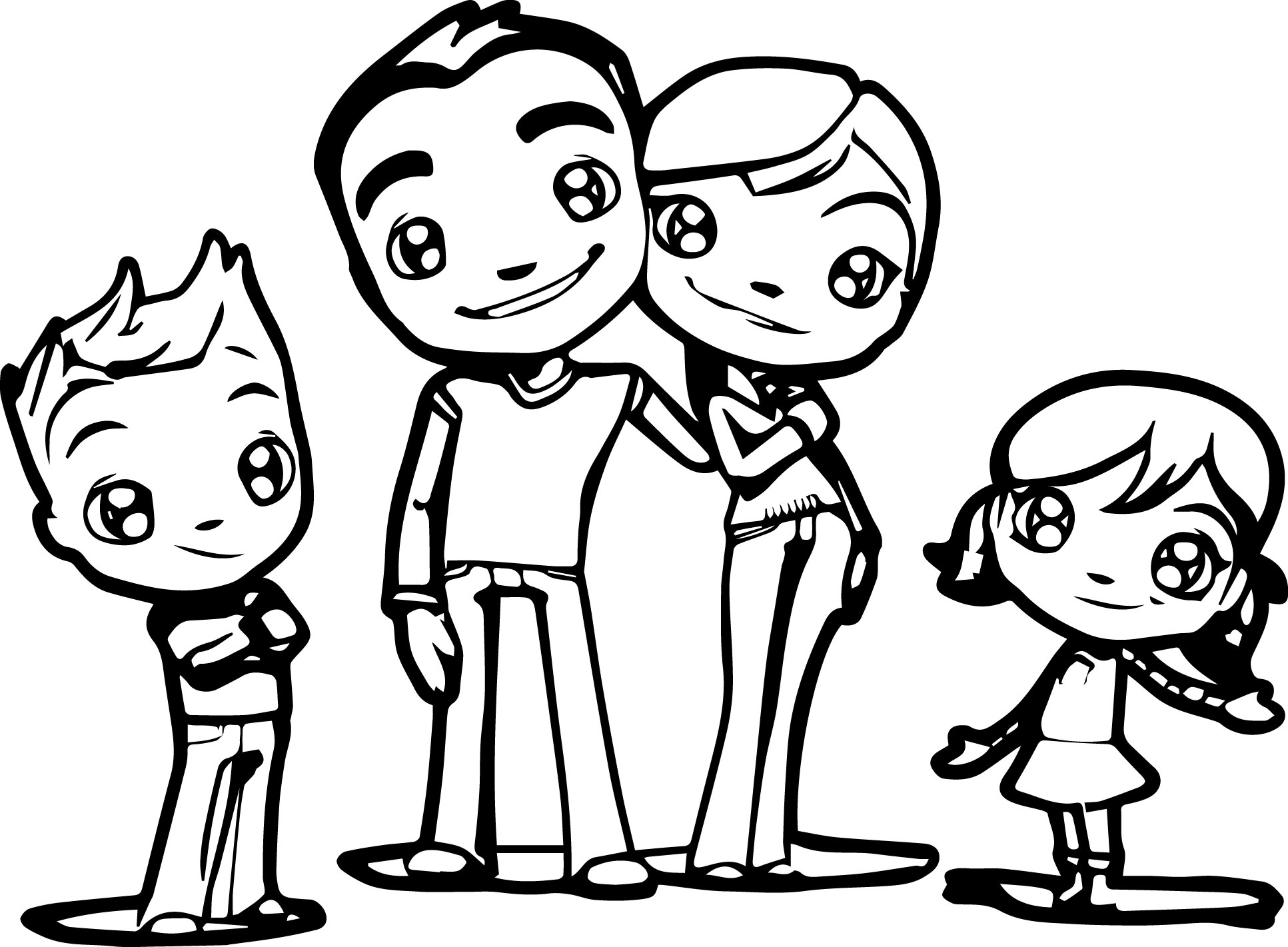 coloring picture of family free printable happy family coloring pages for kids of coloring family picture