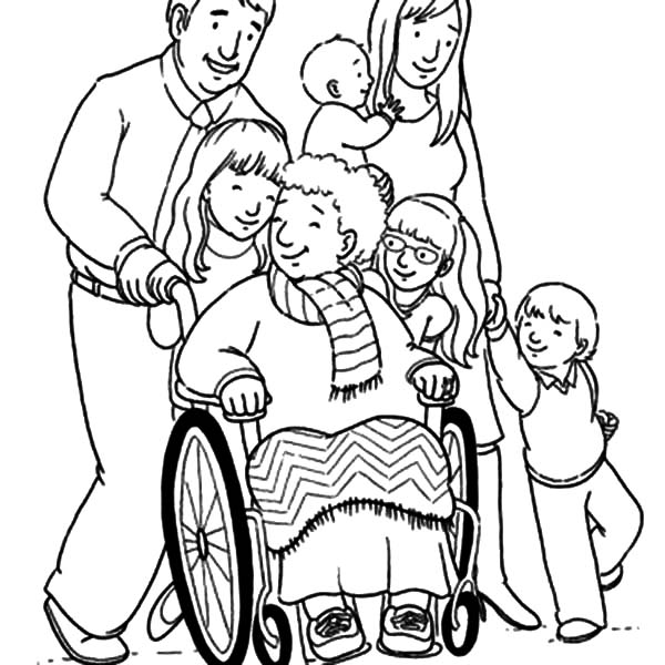 coloring picture of family grandmother and her big family coloring pages color luna family picture of coloring