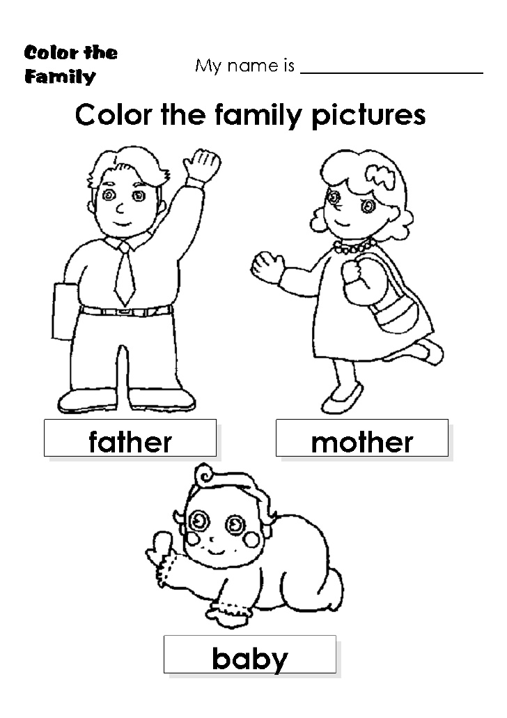 coloring picture of family holy family coloring page thecatholickidcom coloring family of picture