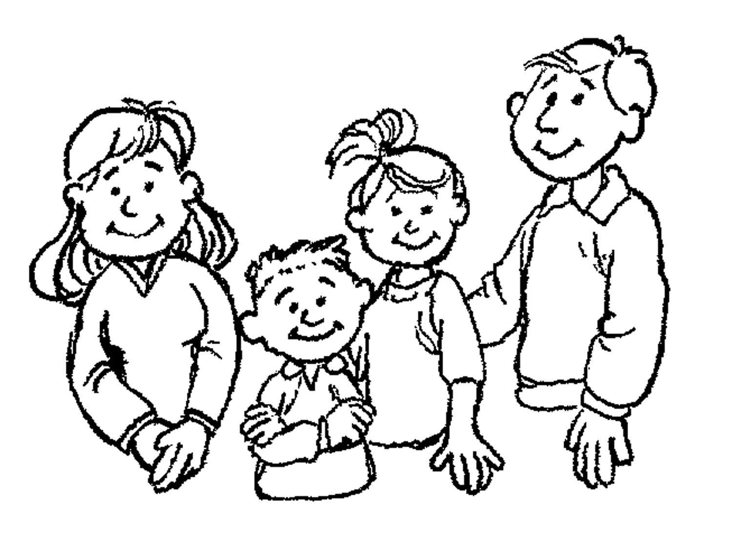 coloring picture of family members of the family clipart black and white 20 free picture of family coloring