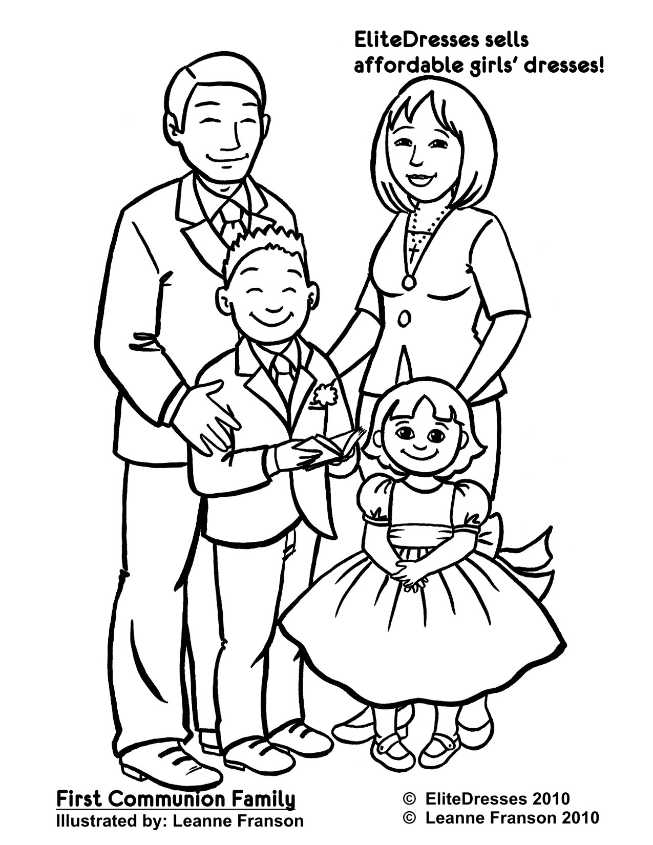 coloring picture of family simple english speaking topics introduce yourself and family of picture coloring