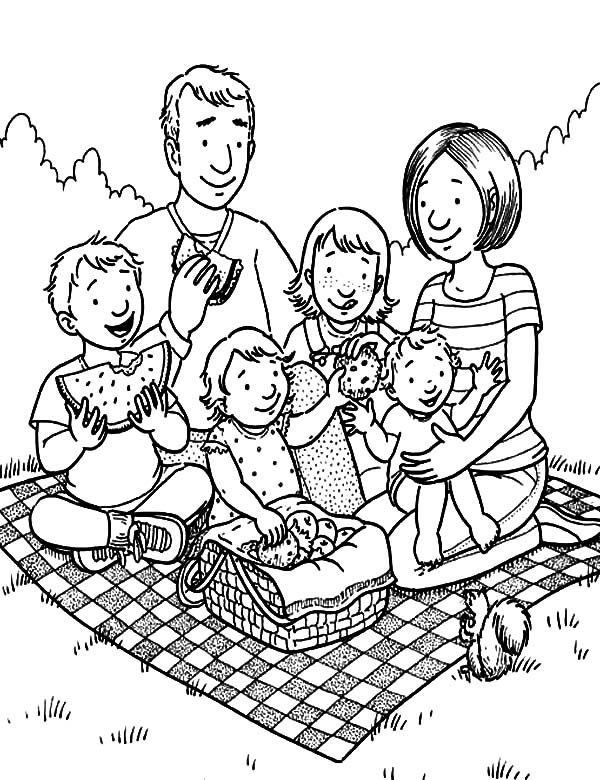 coloring picture of family wwwpreschoolcoloringbookcom family coloring page of coloring family picture