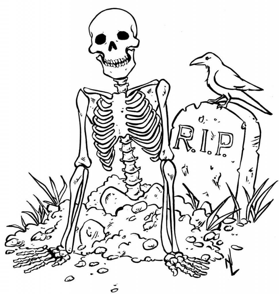 coloring picture of skeleton coloring picture of skeleton coloring picture of skeleton