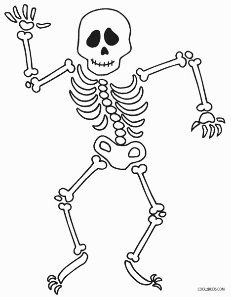 coloring picture of skeleton human bones drawing at getdrawings free download of coloring skeleton picture