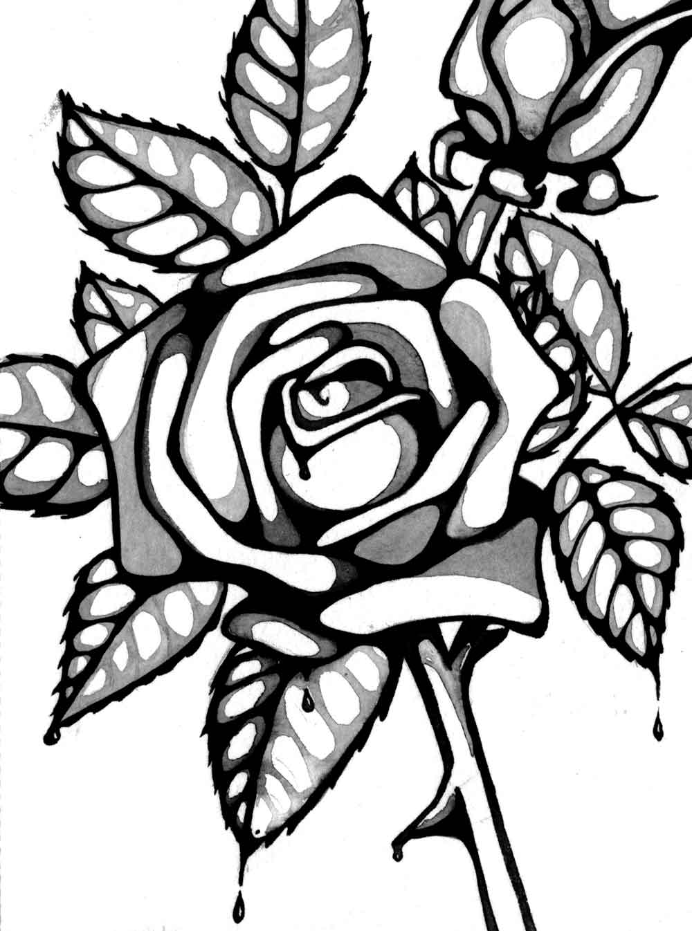 coloring picture rose flowers coloring pages rose coloring picture