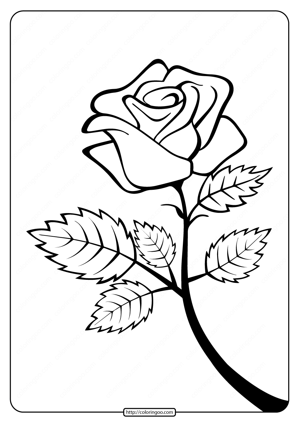 coloring picture rose free printable rose branch coloring page coloring rose picture