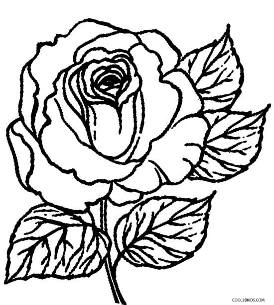 coloring picture rose printable rose coloring pages for kids cool2bkids picture rose coloring