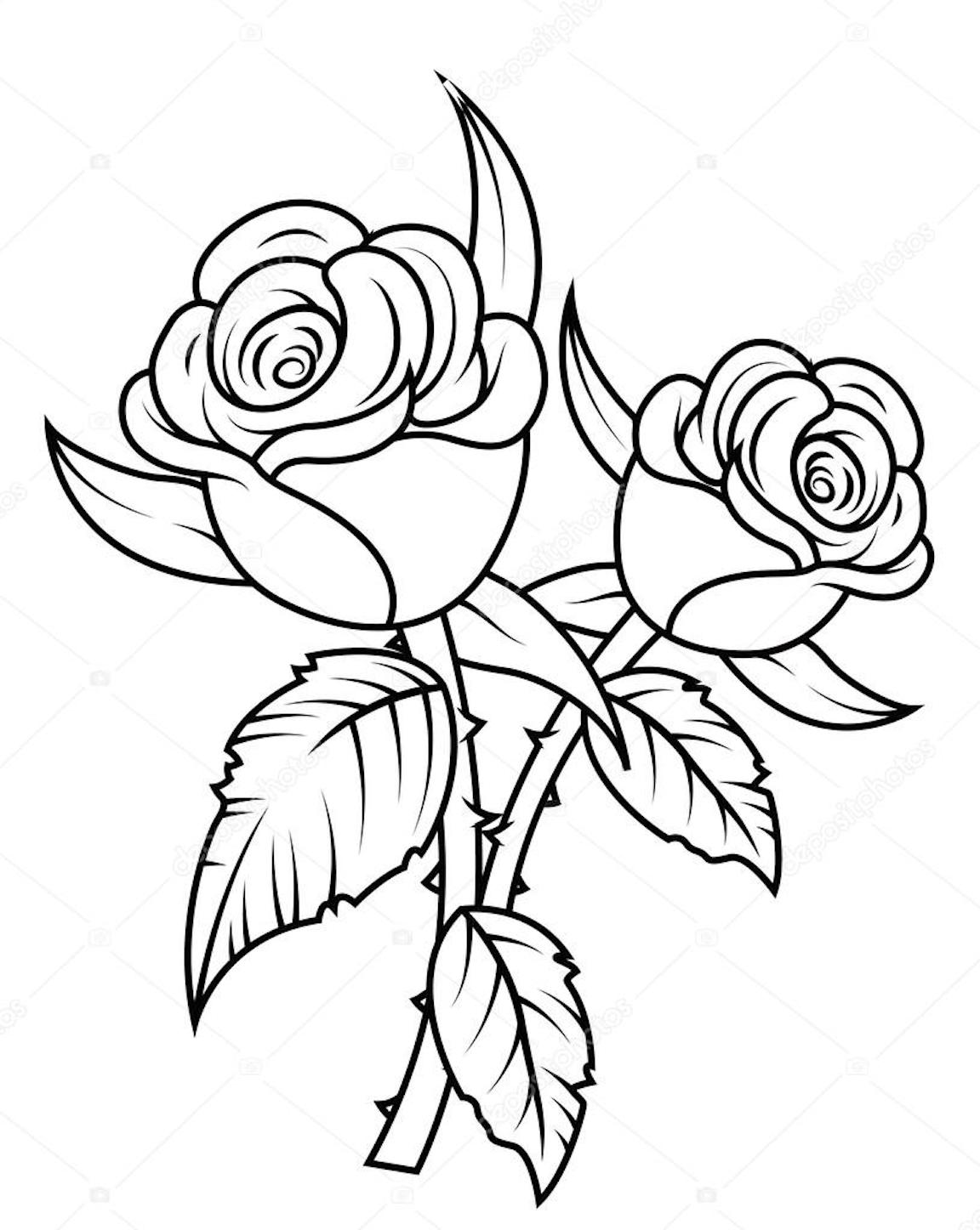 coloring picture rose rose clipart coloring pages and many more free printable picture coloring rose
