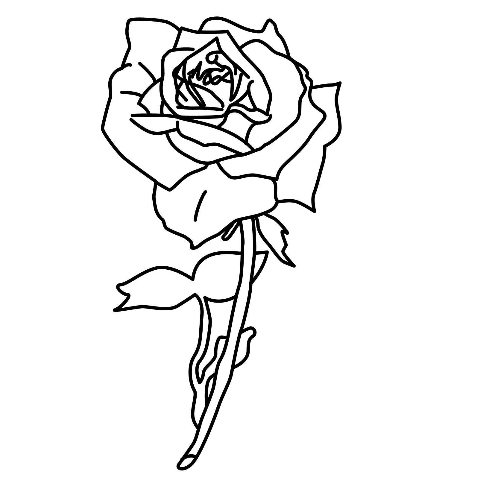 coloring picture rose rose flower coloring pages getcoloringpagescom rose picture coloring
