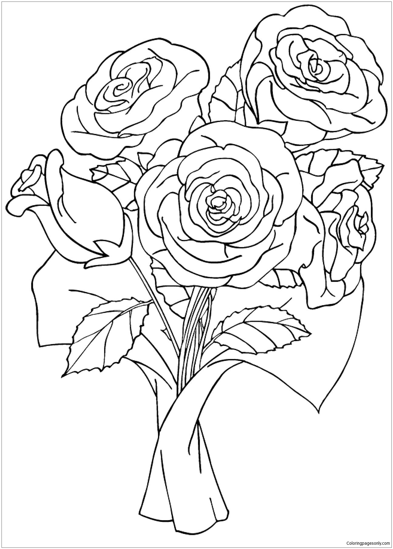 coloring picture rose roses flower coloring pages flower coloring pages free rose picture coloring