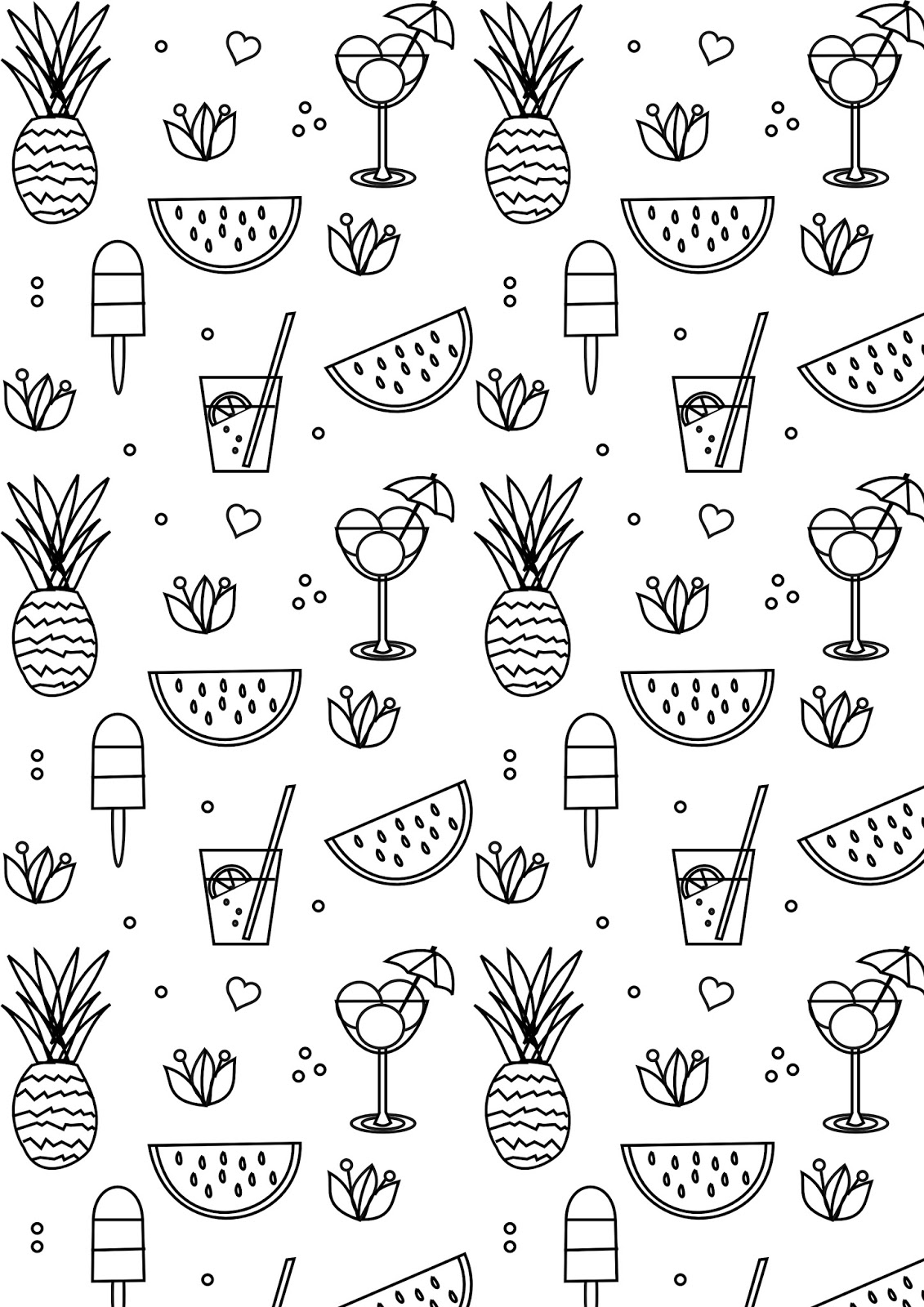 coloring picture to print free printable summer coloring page ausdruckbare print coloring picture to