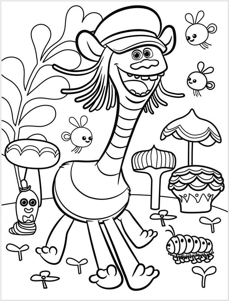 coloring picture to print trolls world tour coloring pages free printable coloring picture coloring print to