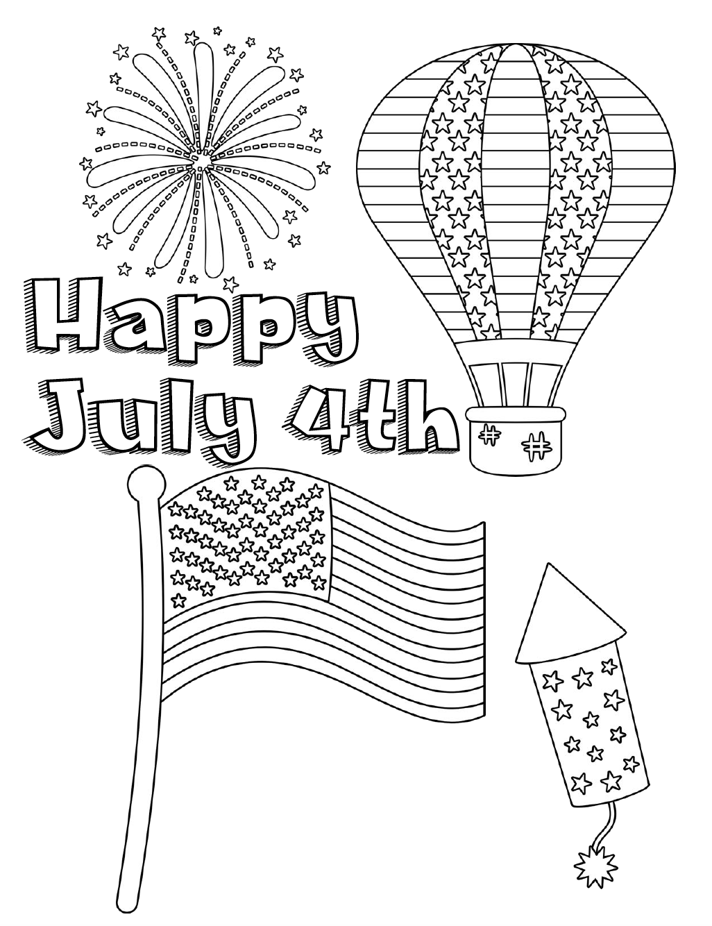 coloring pictures 4th of july ausmalbilder für kinder malvorlagen und malbuch 4th of pictures coloring july of 4th