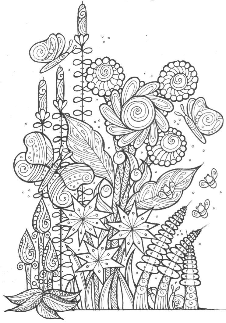 coloring pictures for adults butterflies and bees adult coloring page favecraftscom pictures for adults coloring
