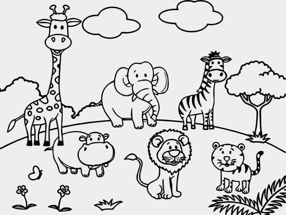 coloring pictures of animals cartoon animal coloring pages to download and print for free of pictures animals coloring