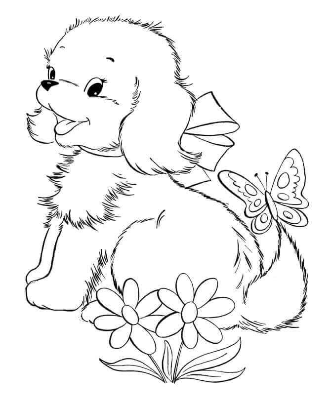 coloring pictures of baby dogs cute drawing of a puppy at getdrawings free download of baby coloring pictures dogs