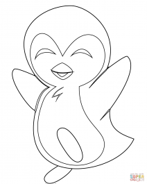 coloring pictures of baby penguins baby penguin coloring pages free download on clipartmag penguins pictures of coloring baby