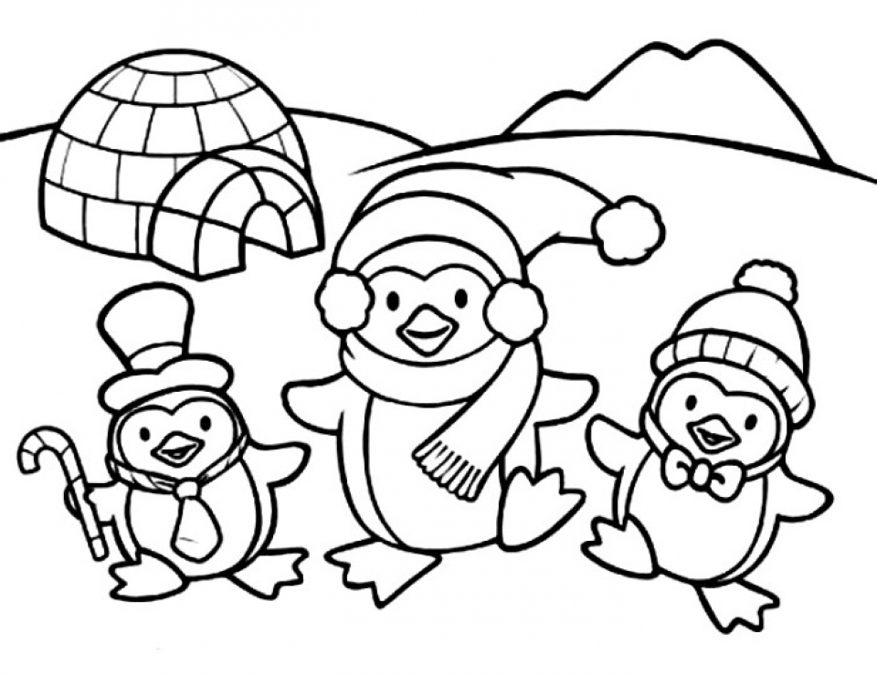 coloring pictures of baby penguins nice cute cartoon penguin happy feet coloring page penguins baby of pictures coloring