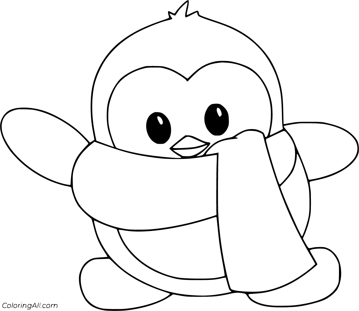 coloring pictures of baby penguins penguin coloring pages coloringall coloring of baby pictures penguins