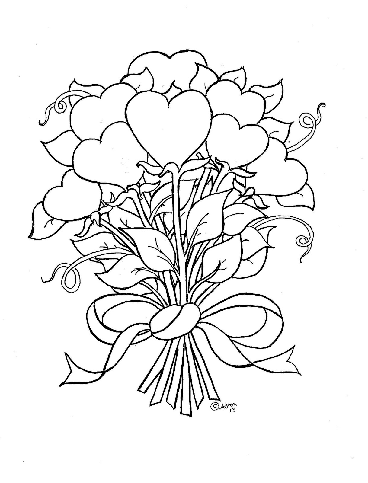 coloring pictures of flowers and hearts 35 free printable heart coloring pages hearts of coloring flowers pictures and