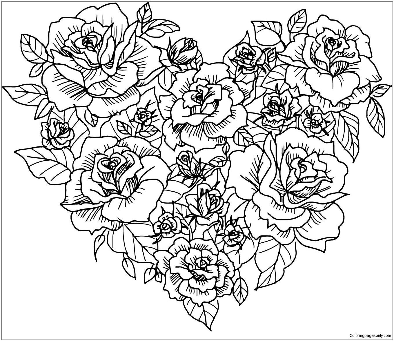 coloring pictures of flowers and hearts coloring pages for kids by mr adron flower hearts kid39s and coloring pictures flowers hearts of