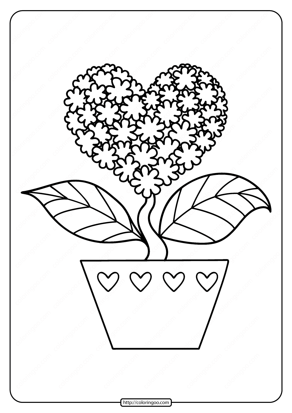coloring pictures of flowers and hearts coloring pages of hearts and flowers at getdrawings free of flowers and pictures coloring hearts