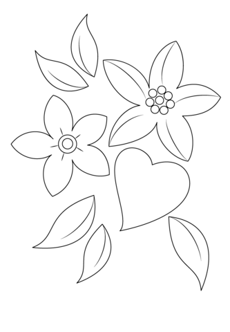 coloring pictures of flowers and hearts coloring pages of hearts with wings and roses at flowers of hearts and coloring pictures