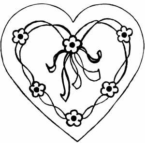 coloring pictures of flowers and hearts flower heart coloring pages at getcoloringscom free pictures coloring of and flowers hearts