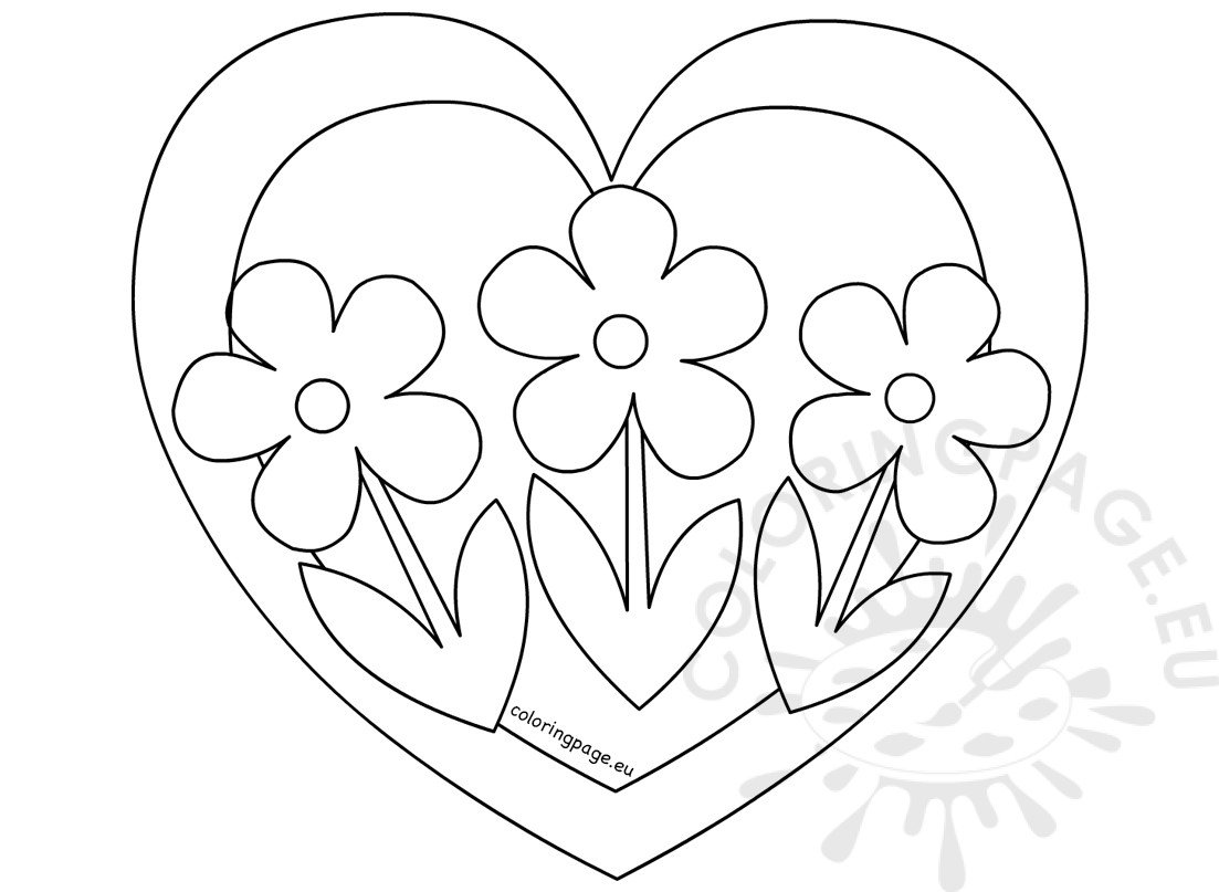coloring pictures of flowers and hearts heart flowers coloring pages coloring home and hearts pictures coloring of flowers