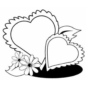 coloring pictures of flowers and hearts heart with flowers coloring page free printable coloring coloring flowers pictures of and hearts