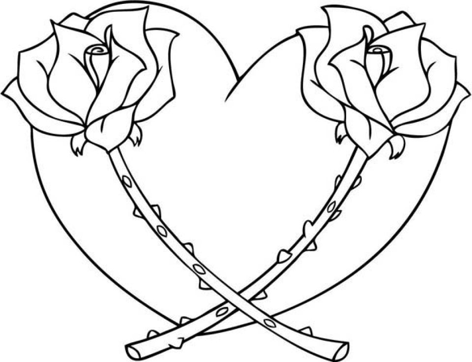 coloring pictures of flowers and hearts heart with flowers coloring page hearts of and pictures coloring flowers