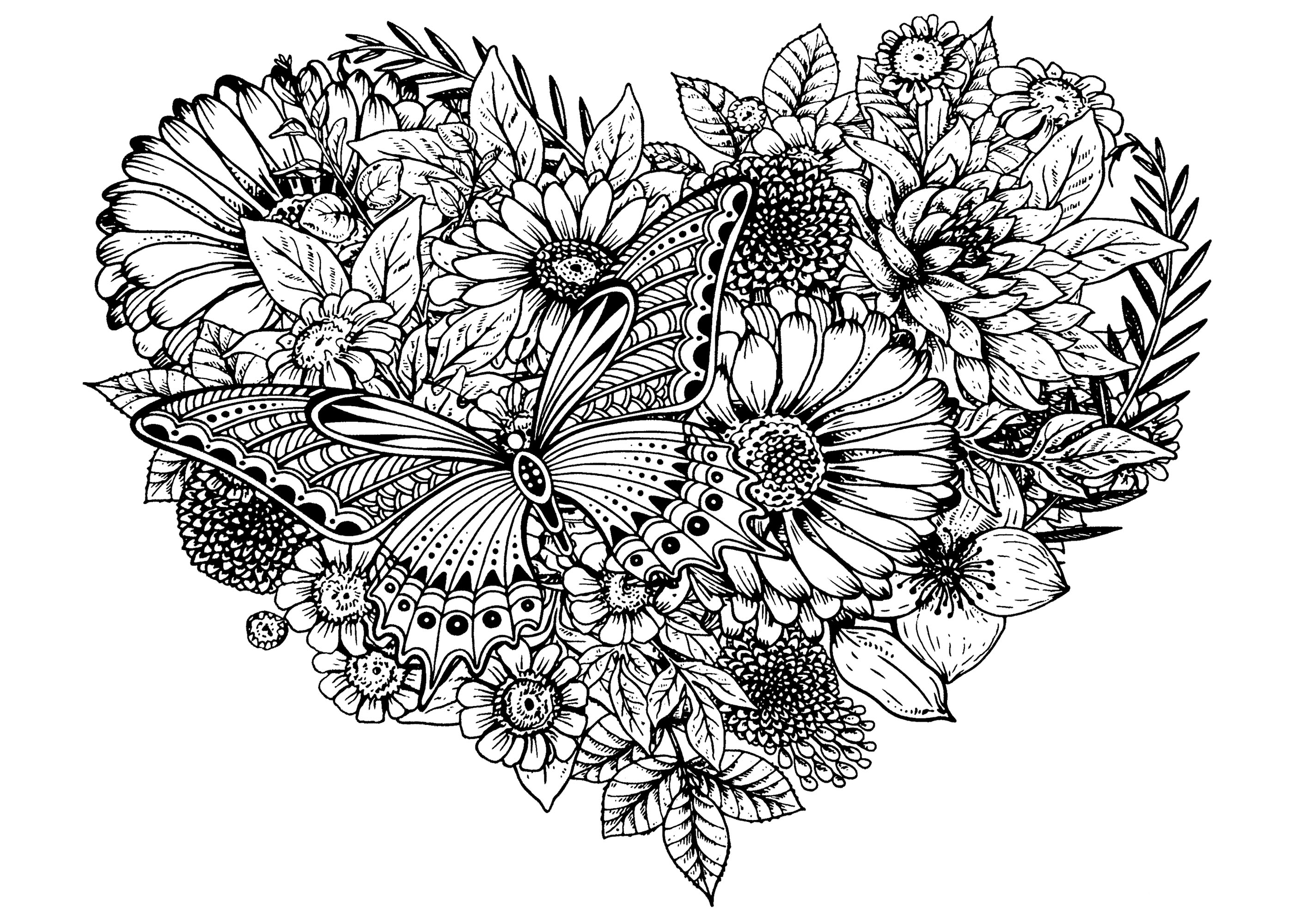 coloring pictures of flowers and hearts images of hearts and stars clipartsco and of hearts flowers pictures coloring