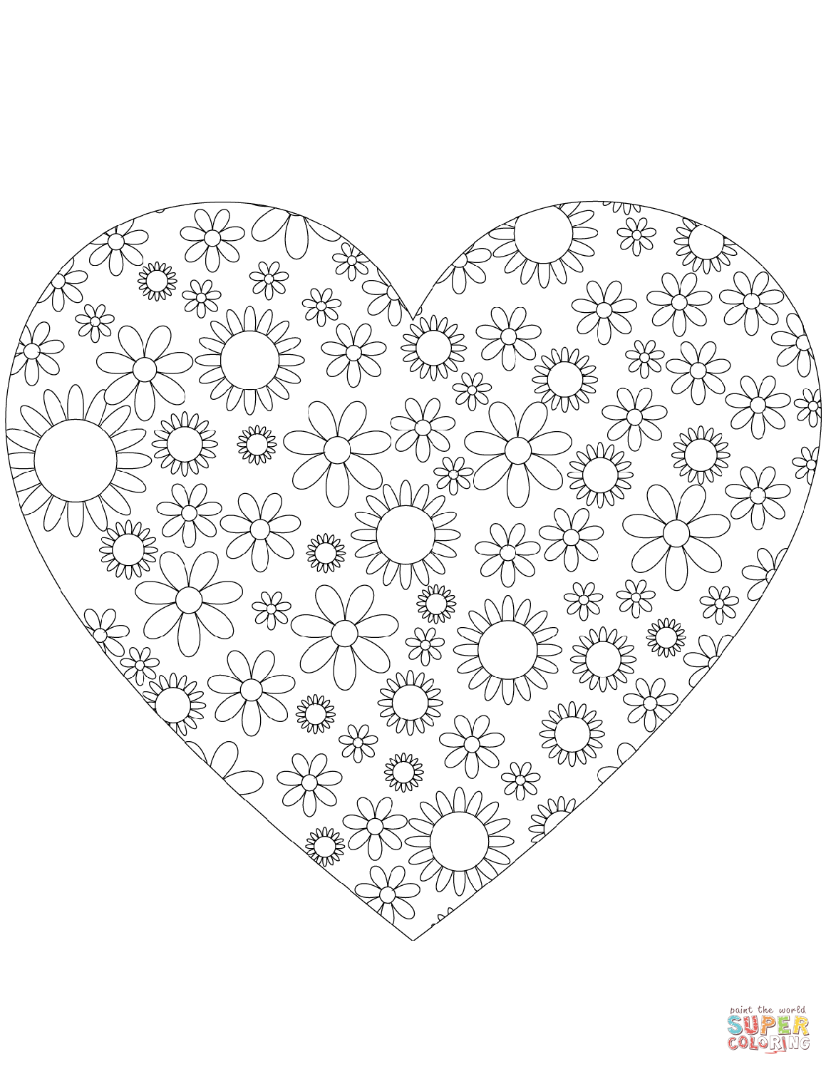 coloring pictures of flowers and hearts printable rose coloring pages for kids hearts of pictures and coloring flowers