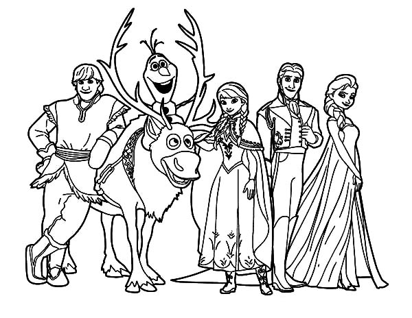 coloring pictures of frozen characters elsa black and white coloring pages coloring pages allow characters frozen coloring of pictures
