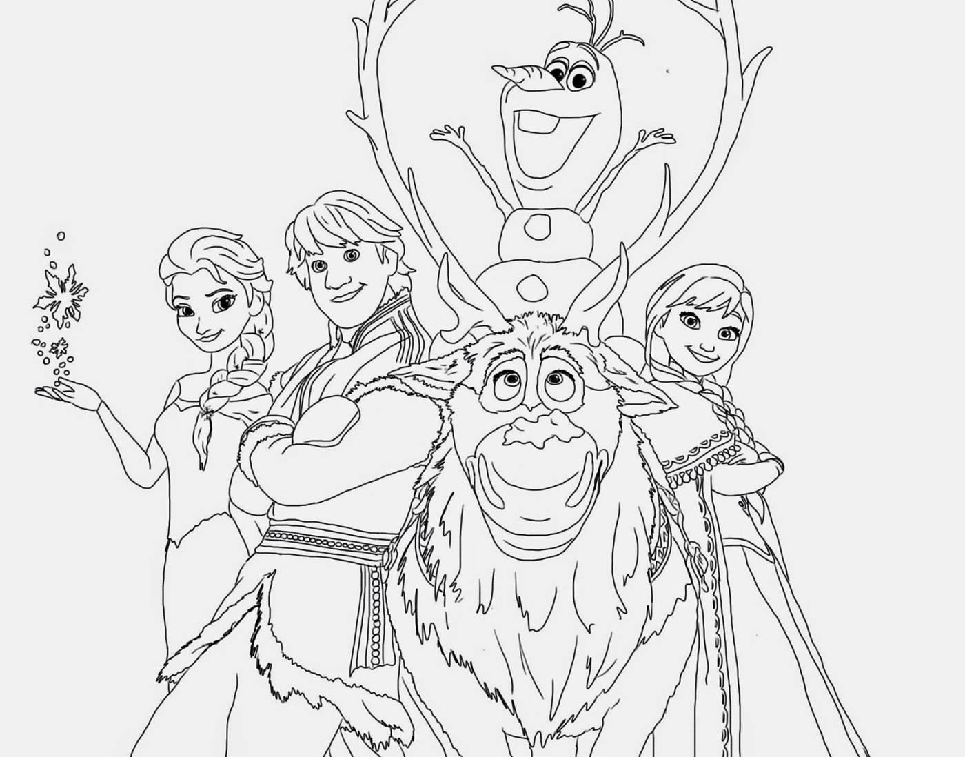 coloring pictures of frozen characters frozen christmas all characters coloring pages printable characters pictures frozen coloring of