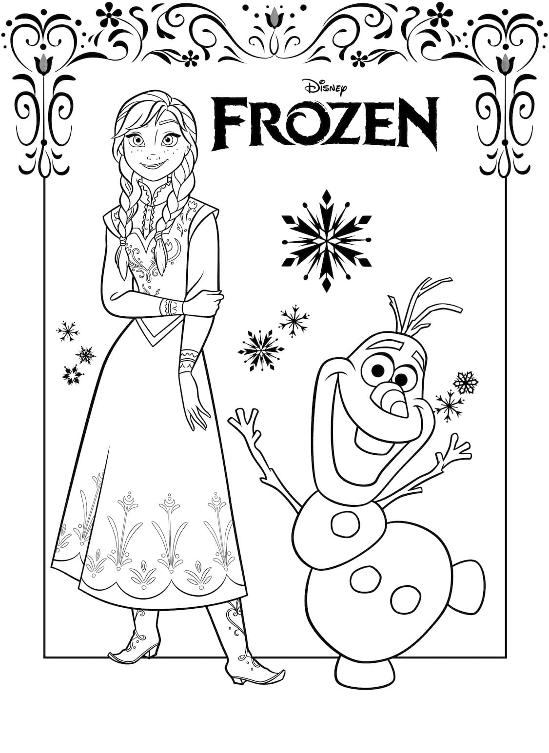 coloring pictures of frozen characters frozen coloring pages 2 100 images with your favorite characters of frozen pictures coloring