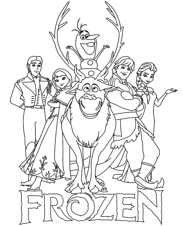 coloring pictures of frozen characters logo and main characters frozen coloring pages for children characters of frozen coloring pictures