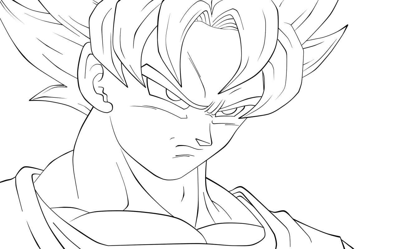 coloring pictures of goku awesome goku waiting coloring page with images pictures coloring goku of