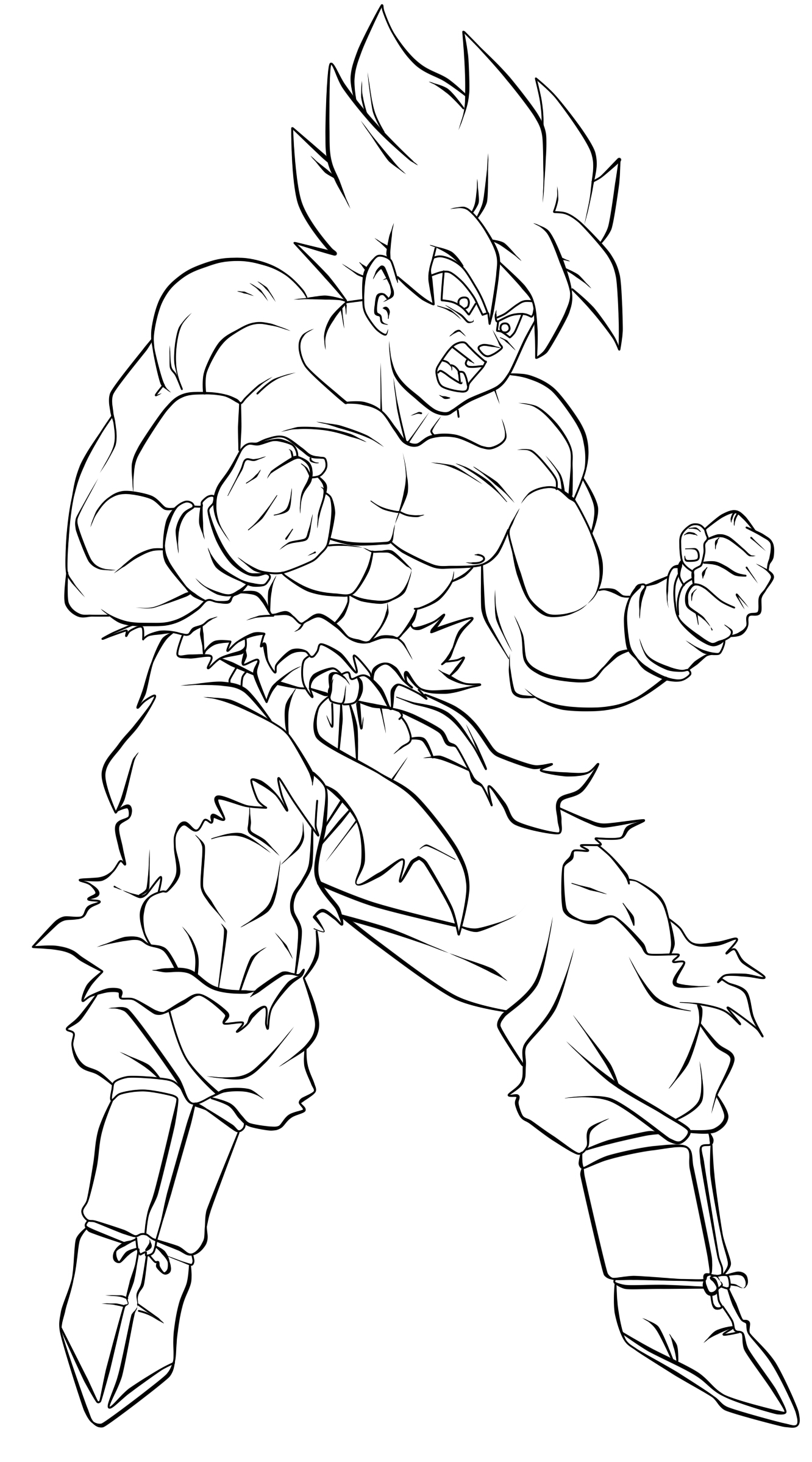 coloring pictures of goku dragon ball z coloring pages goku super saiyan 5 at coloring goku pictures of
