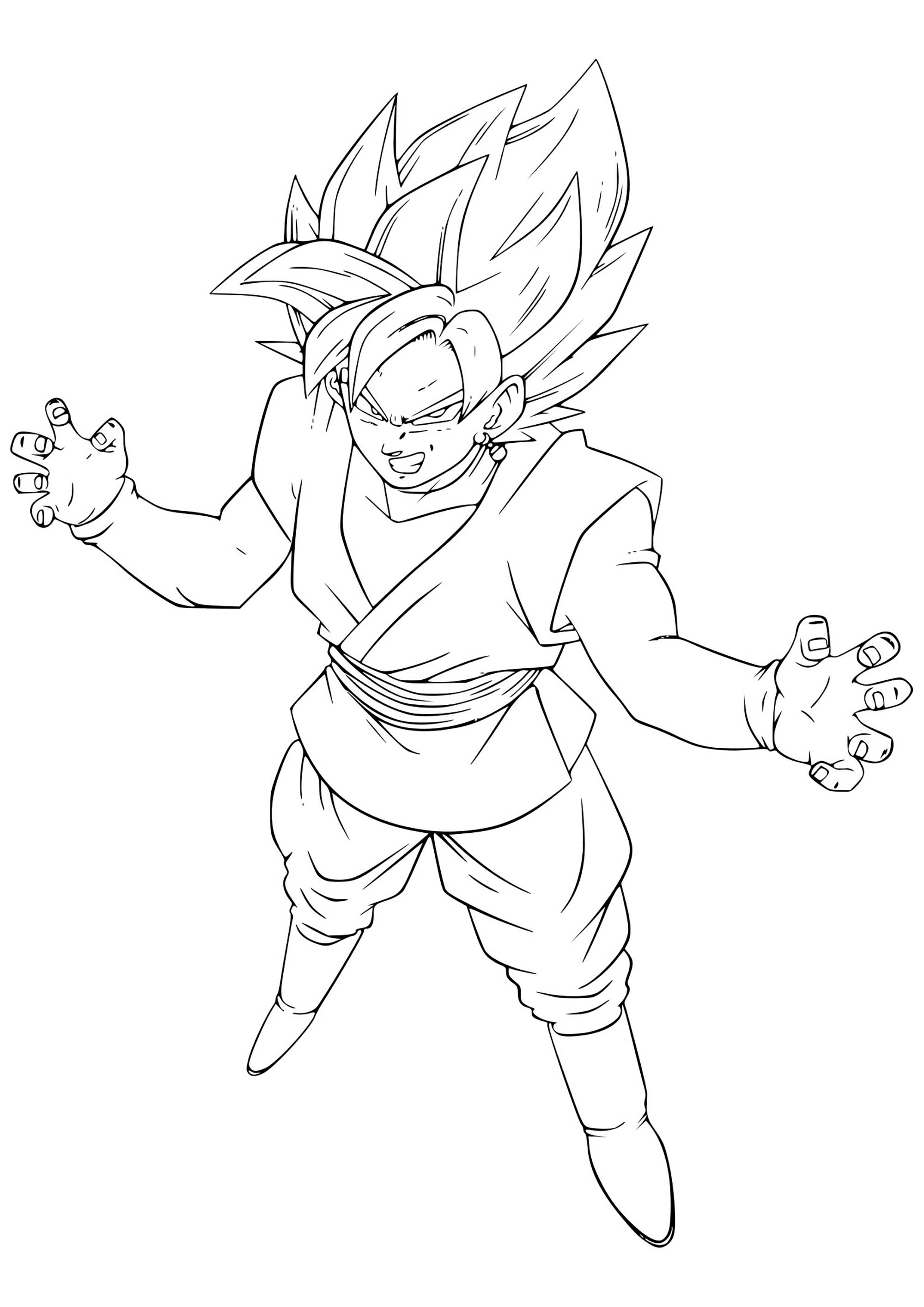 coloring pictures of goku goku coloring pages to download and print for free of goku coloring pictures