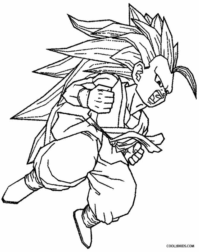 coloring pictures of goku goku coloring pages to printable goku coloring pages goku coloring of pictures